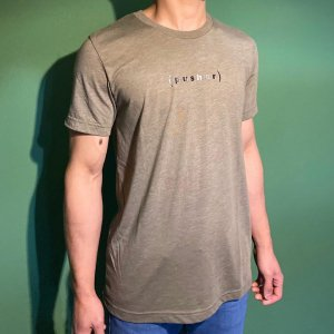 pusher(プッシャー) (p)バックプリントロゴT ※伝説のホールドメーカーTシャツ ※メール便88円