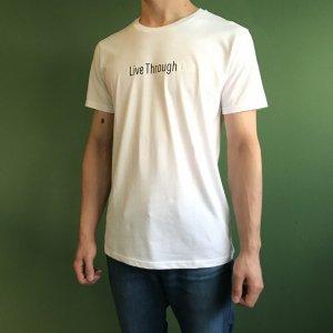 TokyoPowderIndustries(東京粉末) LIVE THROUGH TEE(ライブスルーティー) ※メール便88円 ※東京粉末のスローガンTシャツ