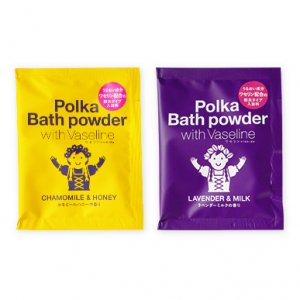 Polka Vaseline(ポルカワセリン) Polka Bath(ポルカバス) カモミールハニー/ラベンダーミルク 粉末タイプ入浴料 ※ハチミツ ホホバ油 配合 ※選べる2種類 ※メール便88円
