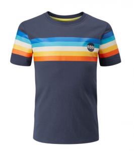 MOON(ムーン) HALF MOON RETRO STRIPE T-SHIRT(ハーフムーンレトロストライプTシャツ) ※キッズ用Tシャツ ※2020年新モデル ※メール便88円