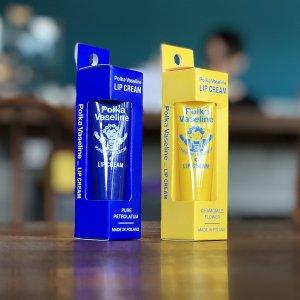 Polka Vaseline(ポルカワセリン) LIP CREAM(リップクリーム) ピュア/カモミールの香り ※携帯性に優れたチューブタイプが嬉しい ※メール便88円