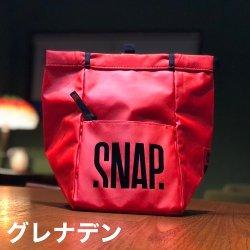 snap(スナップ) Big Chalk Bag(ビッグチョークバック) ※リサイクルポリエステル100% TPUコート ※大きめファスナーポケット