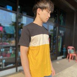 MOON(ムーン) Colour Block T-Shirt(カラーブロックティーシャツ) ※柔らかくて伸びるオーガニックコットン100% ※2021年新モデル ※メール便88円