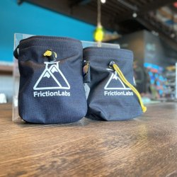 △FRICTIONLABS(フリクションラボ) Organic Chalk Bag Black(オーガニックチョークバッグ ブラック) ※ブランドロゴが眩しい純正品 ※メール便88円