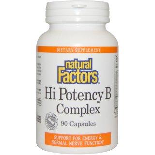 ビタミンB総合 NaturalFactors HighPotency B Complex 90粒カプセル ※強度の強い運動後に必須のビタミン