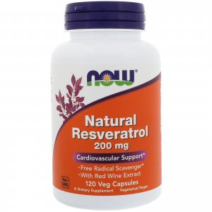 レスベラトロール Natural Resveratrol Mega Potency 200 mg 120Vcaps
