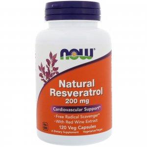 レスベラトロール Natural Resveratrol Mega Potency 200mg 120粒カプセル ※アンチエイイジングに重要な長寿遺伝子サーチュインの活性