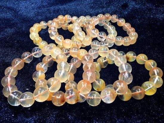 ★美麗!★マダガスカル産★オレンジラビットヘア★サンセットクォーツ 11.5-12mm 18珠