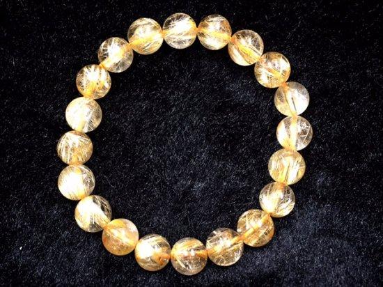 ◆爆安!◆ロイヤルグレード¥690/g10/31まで銀行振込み限定★極上ゴールドタイチンルチル★10mm 20珠 2…