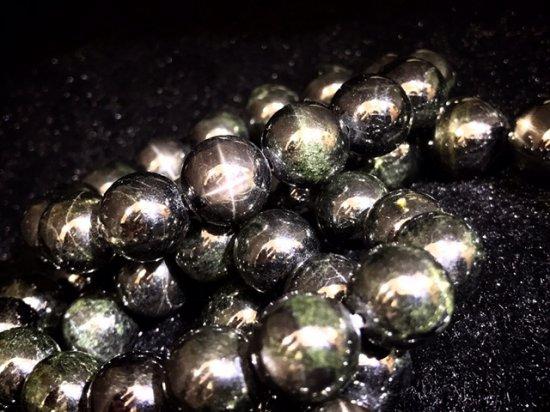 ★3A高品質・激安★ブラックダイオプサイト【ブラックスター】ブレスレット★選べませんランダム発送◆14-14.5mm 15珠…