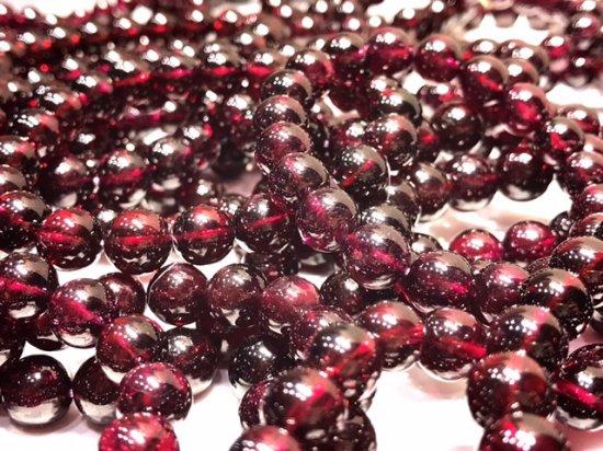 ★透明ロードライト★最上級宝石質【インド産】 濃い赤紫!最高級天然ガーネット 11mm 18珠 52.3g前後