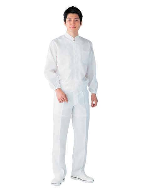 防塵衣男女兼用ホワイト SG2021-1