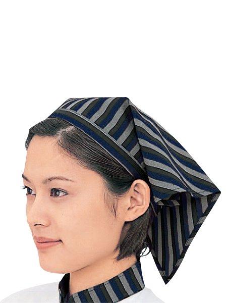 ヒモ付きストライプ三角巾 SK7002-1