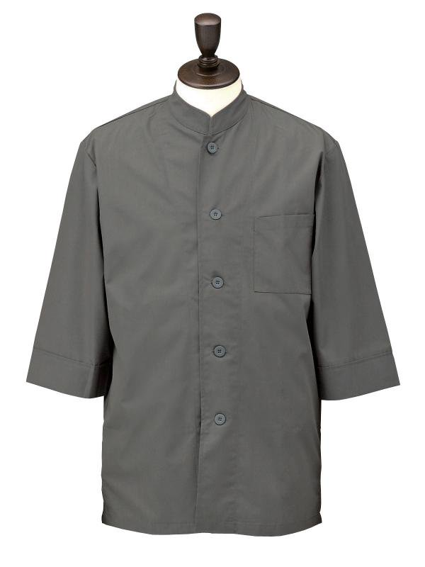 コックシャツ シングル 男女兼用 SBK3801 グレー