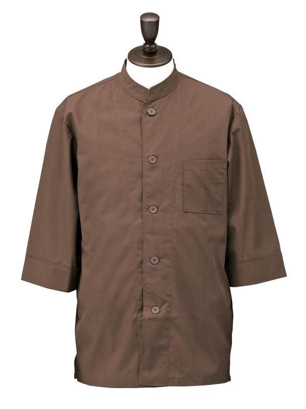 サービスウェア | コックシャツ シングル 男女兼用 SBK3801 ブラウン
