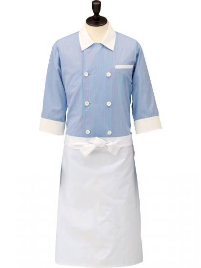 ストライプコックシャツ・レギュラーカラー男女兼用 SBK4000