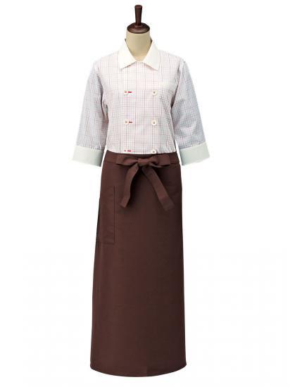 チェックコックシャツ レギュラーカラー男女兼用 SBK4100