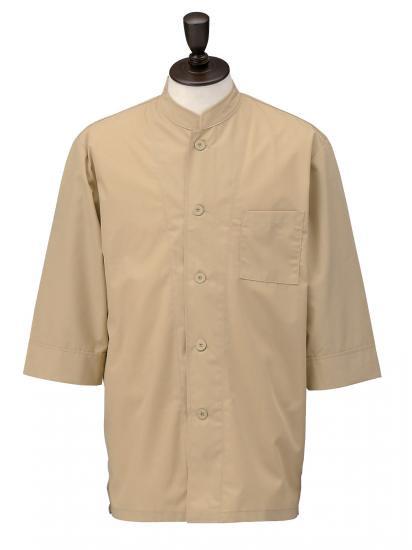 コックシャツ シングル 男女兼用 SBK3801 カフェオレ