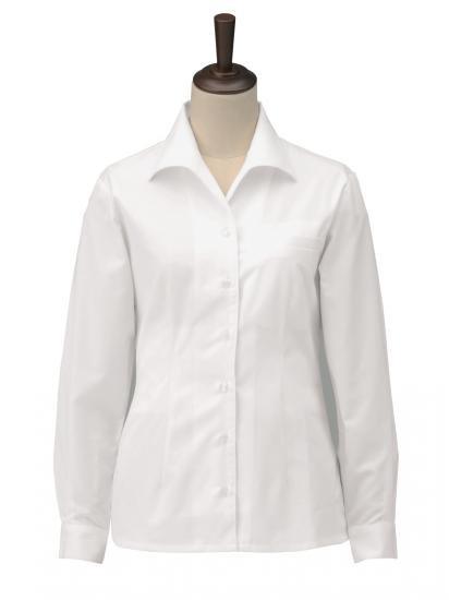 女子オープンシャツ 長袖 S4300