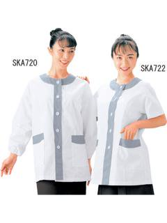 調理用白衣   女子デザイン白衣長袖 SKA720