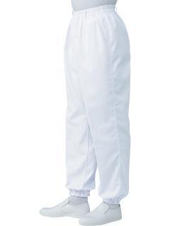 工場用白衣 | 男子総ゴムトレパン SKH112 ホワイト