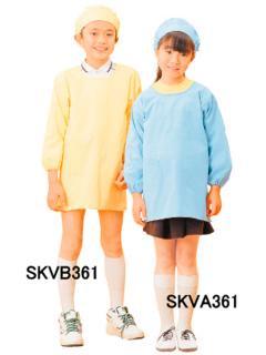 学童給食衣割烹着型 ブルー SKVA361