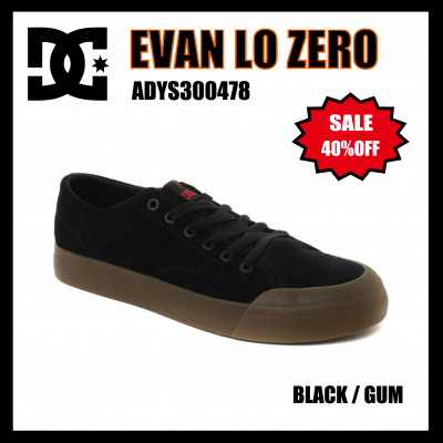 <img class='new_mark_img1' src='//img.shop-pro.jp/img/new/icons24.gif' style='border:none;display:inline;margin:0px;padding:0px;width:auto;' />DC SHOES EVAN LO ZERO S  BLACK / GUM ADYS300478 ディーシーエバンスミス
