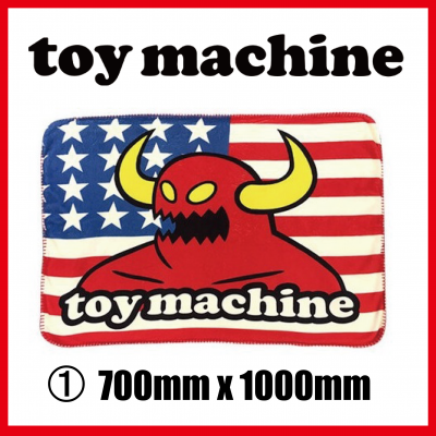 <img class='new_mark_img1' src='//img.shop-pro.jp/img/new/icons1.gif' style='border:none;display:inline;margin:0px;padding:0px;width:auto;' />TOY MACHINE フリースブランケット