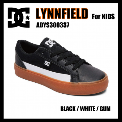 DC SHOES LYNNFIELD  for KIDS Black/White/Gum ADBS300337 ディーシーキッズ