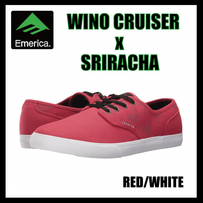 <img class='new_mark_img1' src='https://img.shop-pro.jp/img/new/icons16.gif' style='border:none;display:inline;margin:0px;padding:0px;width:auto;' />【SALE】Emerica WINO CRUISER x SRIRACHA  Red/White エメリカ