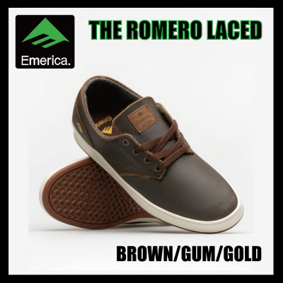 <img class='new_mark_img1' src='https://img.shop-pro.jp/img/new/icons16.gif' style='border:none;display:inline;margin:0px;padding:0px;width:auto;' />【SALE】Emerica THE ROMERO LACED Brown/Gum/Gold エメリカ