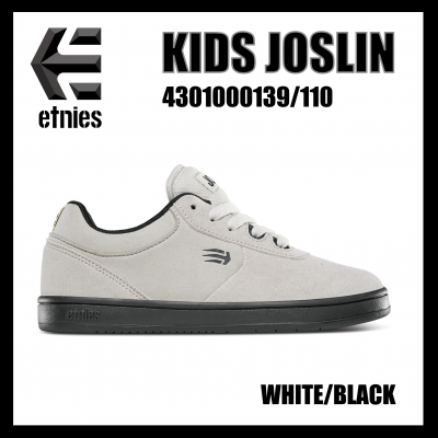 <img class='new_mark_img1' src='//img.shop-pro.jp/img/new/icons1.gif' style='border:none;display:inline;margin:0px;padding:0px;width:auto;' />etnies KIDS JOSLIN White/Black 4301000139/110  エトニーズ  キッズジャスリン