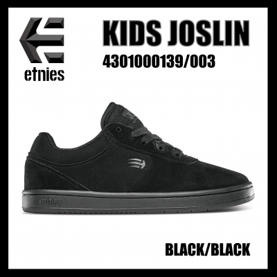 <img class='new_mark_img1' src='//img.shop-pro.jp/img/new/icons1.gif' style='border:none;display:inline;margin:0px;padding:0px;width:auto;' />etnies KIDS JOSLIN Black/Black 4301000139/003  エトニーズ  キッズジャスリン