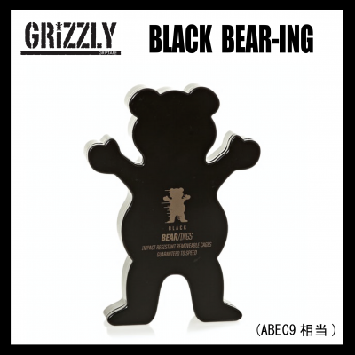 <img class='new_mark_img1' src='https://img.shop-pro.jp/img/new/icons43.gif' style='border:none;display:inline;margin:0px;padding:0px;width:auto;' />GRIZZLY  BLACK BEAR-ING (ABEC9相当) BEARING グリズリー ベアリング スケートボード