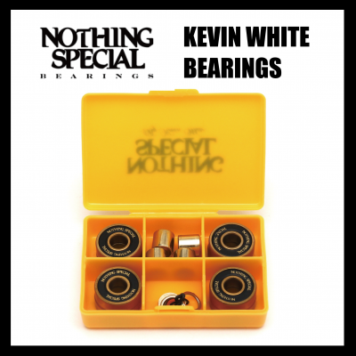 <img class='new_mark_img1' src='https://img.shop-pro.jp/img/new/icons25.gif' style='border:none;display:inline;margin:0px;padding:0px;width:auto;' />NOTHING SPECIAL KEVIN WHITE ABEC9 BEARINGS (8PACK)  ナッシングスペシャル ベアリング
