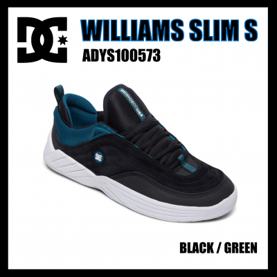 <img class='new_mark_img1' src='//img.shop-pro.jp/img/new/icons1.gif' style='border:none;display:inline;margin:0px;padding:0px;width:auto;' />DC Shoes  WILLIAMS SLIM S Black / Green ADYS100573
