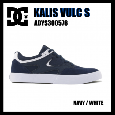 <img class='new_mark_img1' src='https://img.shop-pro.jp/img/new/icons1.gif' style='border:none;display:inline;margin:0px;padding:0px;width:auto;' />DC Shoes  KALIS VULC S  Navy / White  ADYS300576