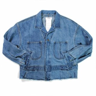 【doublet】SILK DENIM BLOUSON CUT OFF JUMP SUIT