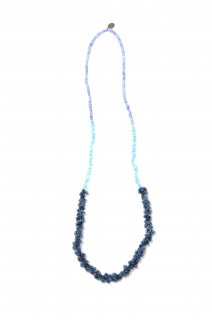 【MIKIA】bead × denim necklace (BLUE)