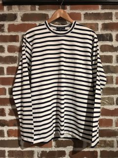 【COMME des GARCONS HOMME】綿天竺ボーダー L/S TEE