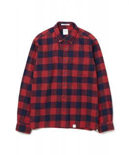 【BEDWIN & THE HEARTBREAKERS】L/S BUFFALO CHECK FLANNEL SHIRT