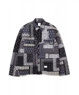 【BEDWIN & THE HEARTBREAKERS】L/S BANDANA CPO SHIRT JACKET