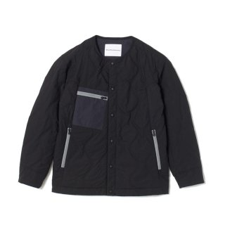 【White Mountaineering】PRIMALOFT QUILTED NO COLLAR JACKET