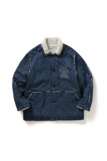 <img class='new_mark_img1' src='//img.shop-pro.jp/img/new/icons5.gif' style='border:none;display:inline;margin:0px;padding:0px;width:auto;' />【BLACK EYE PATCH】LOGO TAPE DENIM RANCH COAT