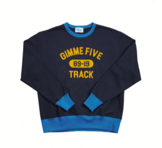 <img class='new_mark_img1' src='//img.shop-pro.jp/img/new/icons20.gif' style='border:none;display:inline;margin:0px;padding:0px;width:auto;' />【Gimme Five】2 TONE SWEAT (FLOCK PRINT)