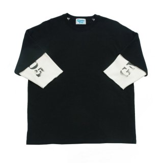 【Gimme Five】G5 RAGLAN SLEEVE TEE WITH WAFFLE 3/4 SLEEVE