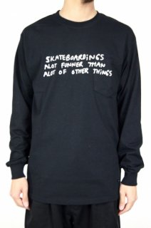 <img class='new_mark_img1' src='//img.shop-pro.jp/img/new/icons5.gif' style='border:none;display:inline;margin:0px;padding:0px;width:auto;' />【Mark Gonzales】SKATEBOARD LONG SLEEVE T-SHIRT