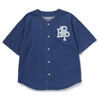 <img class='new_mark_img1' src='//img.shop-pro.jp/img/new/icons5.gif' style='border:none;display:inline;margin:0px;padding:0px;width:auto;' />【BLACK EYE PATCH】DENIM BASEBALL SHIRT