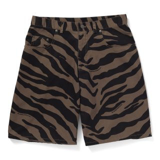 <img class='new_mark_img1' src='//img.shop-pro.jp/img/new/icons5.gif' style='border:none;display:inline;margin:0px;padding:0px;width:auto;' />【BLACK EYE PATCH】ZEBRA STRIPED SHORTS