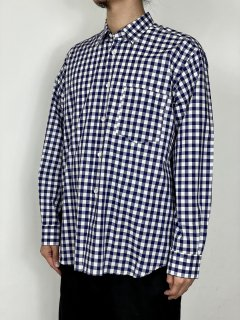 【COMME des GARCONS SHIRT】YARN DYED COTTON BIG CHECK SHIRT (WIDE CLASSIC)